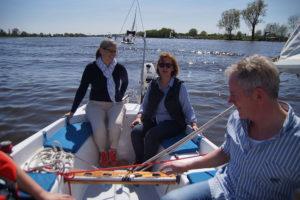 Zusammen segeln auf der Mittelweser
